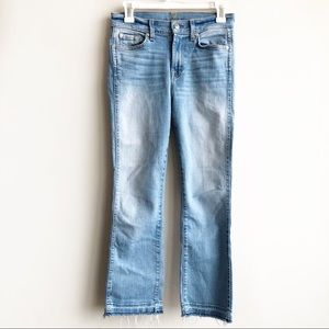 7 For All Man Kind Cropped Boot Raw Hem Jeans